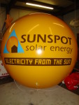 advertising balloon with logo