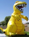 yellow color T-Rex advertising inflatable-advertising inflatables for promotions